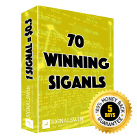70 signals - Instead of paying $70 , the price is $35 - You have 5 days to try out the package - You have 100% Money back guarantee on this package